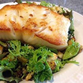 Pan Seared Chilean Sea Bass with Lemon Dill Sauce