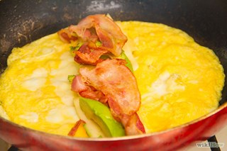 Bacon Avocado and Jack Cheese Omelets with Fresh Salsa