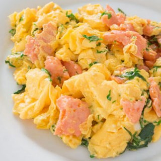 Creamy Scrambled Eggs with Dill and Smoked Salmon