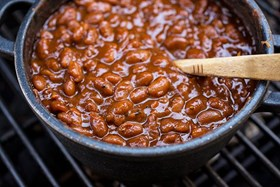 Barbequed Beans with Bacon