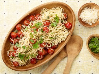 Capellini with Tomatoes and Basil