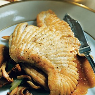 Skate with Wild Mushrooms in Pearl Sauce