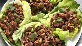 Seasame Beef Lettuce Cups