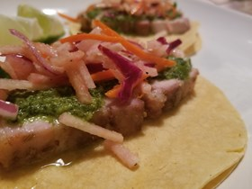 Cuban Pork Belly Tacos