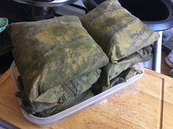 Sticky Rice wrapped in Lotus Leaf (Dim Sum)